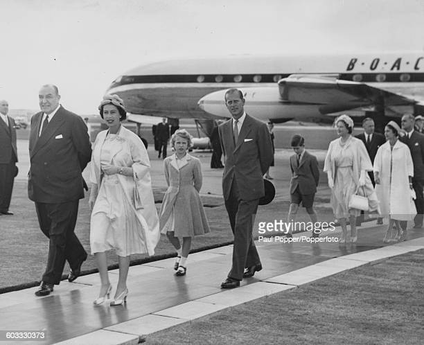 Queen Elizabeth II leads the rest of the Royal Family Princess Anne Prince Philip Duke of Edinburgh Prince Charles Queen Elizabeth the Queen Mother...