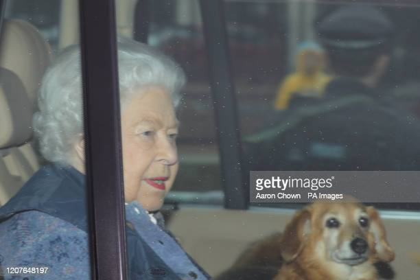 Queen Elizabeth II leaves Buckingham Palace, London, for Windsor Castle to socially distance herself amid the coronavirus pandemic.