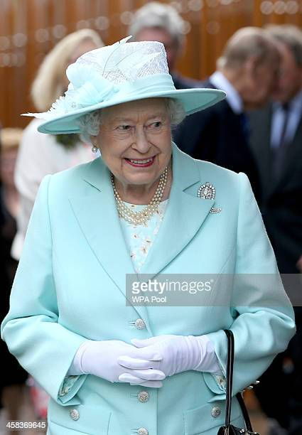 Queen Elizabeth II leaves following during the opening of the fifth session of the Scottish Parliament on July 2 2016 in Edinburgh United Kingdom