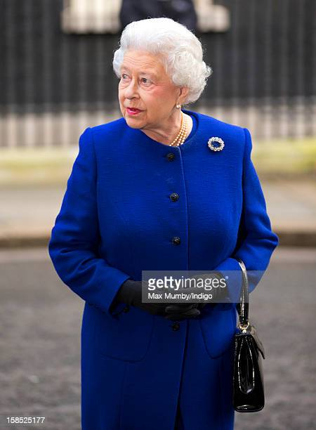 Queen Elizabeth II leaves Number 10 Downing Street after attending the Government's weekly Cabinet meeting on December 18 2012 in London England The...