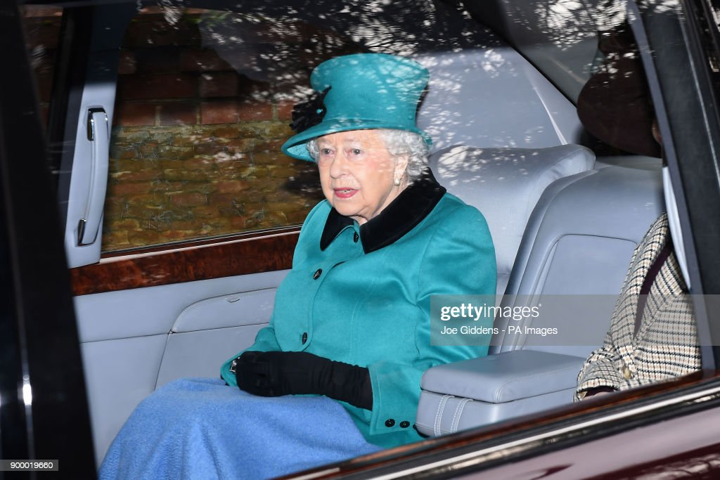 Queen Elizabeth II leaves St Mary Magdalene Church in Sandringham, Norfolk, after attending the morning church service.