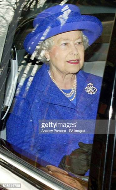 Queen Elizabeth II leaves St Mary Magdalene Church on the Sandringham Estate in Norfolk after attending a Sunday Service