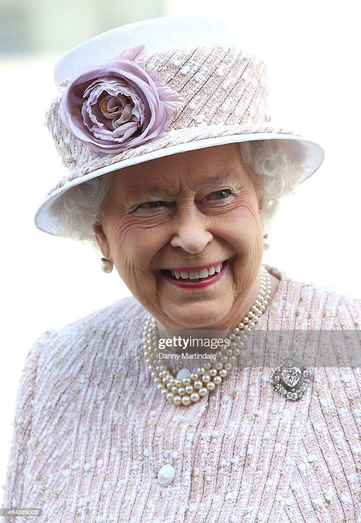 Queen Elizabeth II leaves the 70th anniversary of VJ Day service of commemoration at St Martin-in-the-Fields on August 15, 2015 in London, England.