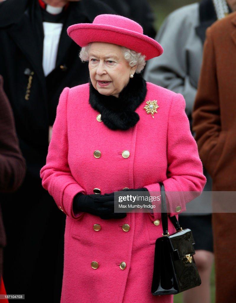 Queen Elizabeth II And Prince Philip, Duke Of Edinburgh Attend Church Services : News Photo