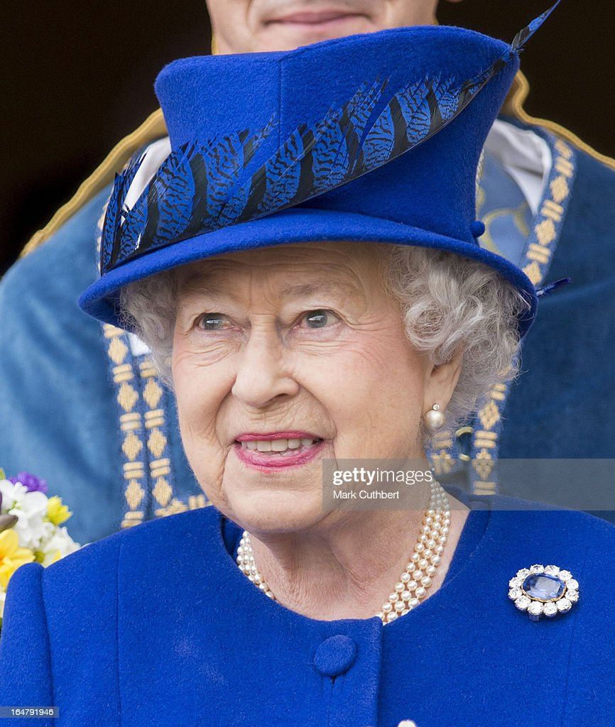 Queen Elizabeth II Visits Oxford For The Royal Maundy Service : News Photo
