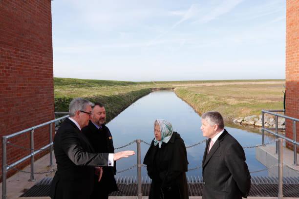 GBR: Queen Elizabeth II Visits Wolferton Pumping Station