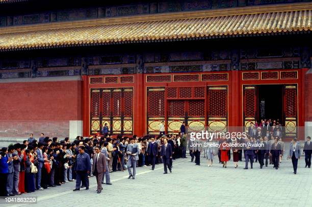 Queen Elizabeth II makes an official state visit to China Forbidden City Beijing 12th October 1986