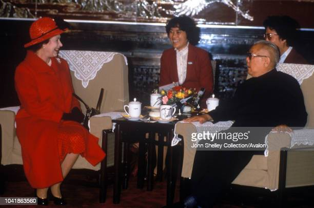 Queen Elizabeth II makes an official state visit to China, Li Xiannian, President of China , 12th October 1986.