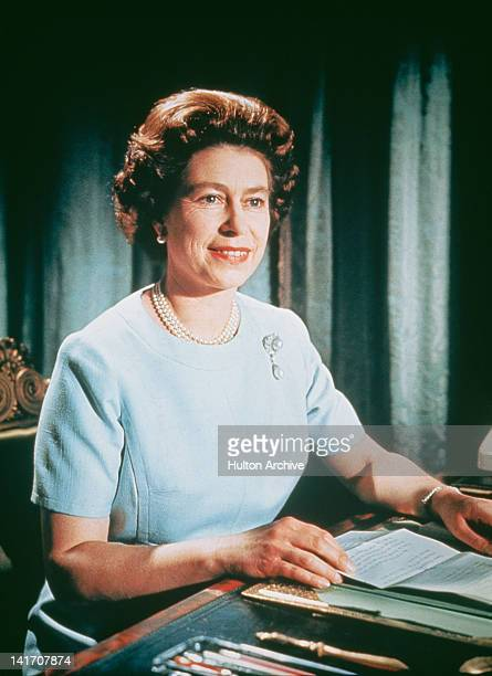 Queen Elizabeth II makes her Christmas Broadcast, 25th December 1971.