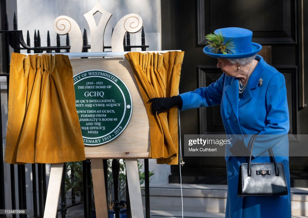 GBR: The Queen Visits Watergate House To Mark The Centenary Of GCHQ