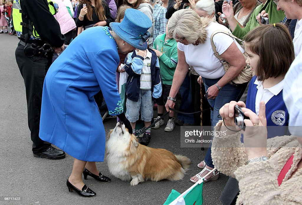 The Queen Visits Welshpool : News Photo