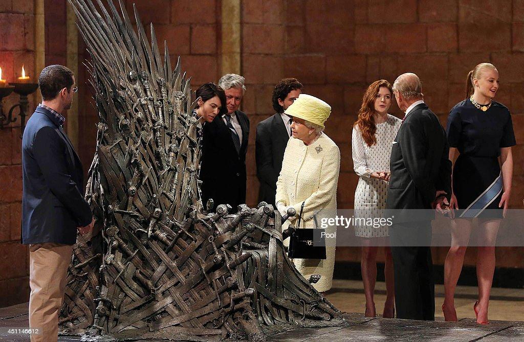 Queen Elizabeth II And Duke Of Edinburgh Visit Northern Ireland : News Photo