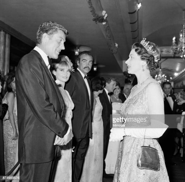 Queen Elizabeth II meets Dick Van Dyke at the premiere of 'You Only Live Twice' 12th June 1967