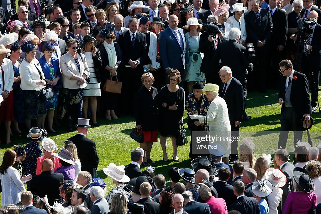 A View From The Roof Over Buckingham Palace Garden Party : News Photo