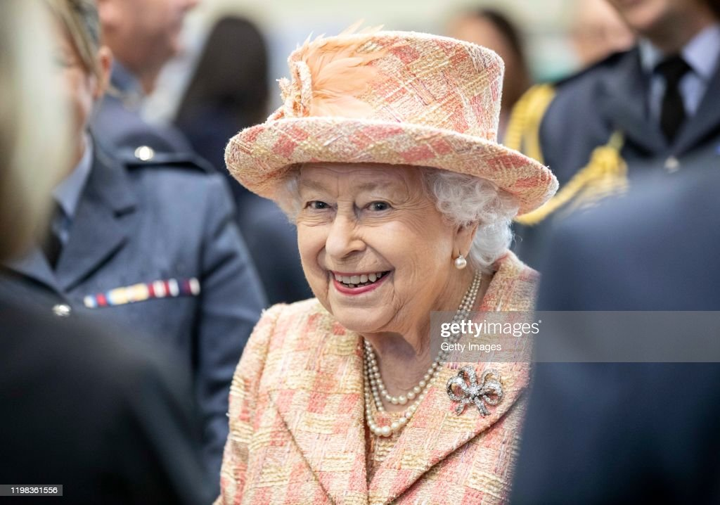 Her Majesty The Queen Visists RAF Marham : News Photo