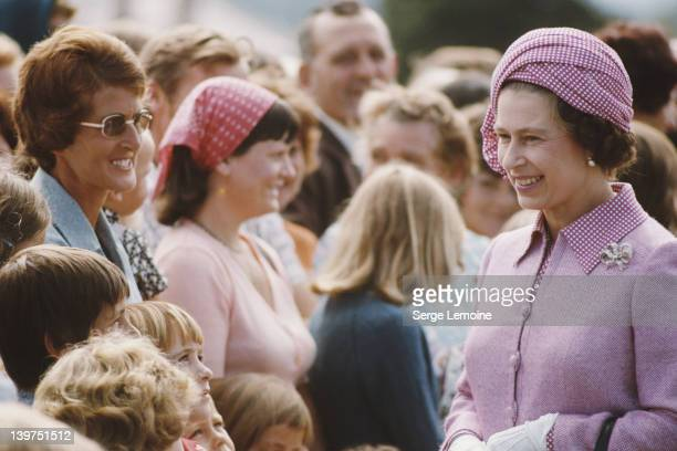 Queen Elizabeth II meets the crowd in Christchurch during her visit to New Zealand 1977