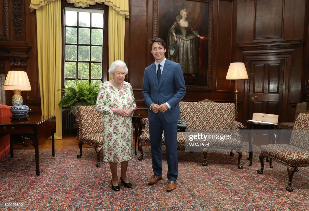 Justin Trudeau Attends An Audience With The Queen At Holyroodhouse : News Photo