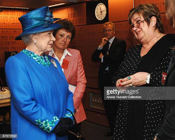DAYS Queen Elizabeth II meets Woman's Hour presenter Jenni Murray during a a visit to the BBC's Broadcasting House on the day before her 80th...