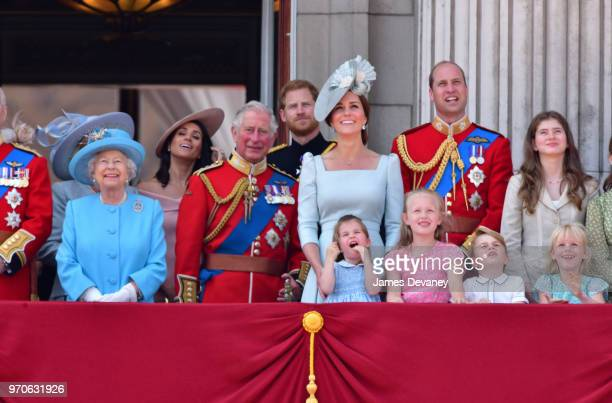 Queen Elizabeth II, Meghan, Duchess of Sussex, Prince Charles, Prince of Wales, Prince Harry, Duke of Sussex, Catherine, Duchess of Cambridge, Prince...