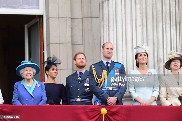 Queen Elizabeth II Meghan Duchess of Sussex Prince Harry Duke of Sussex Prince William Duke of Cambridge Catherine Duchess of Cambridge and Princess...