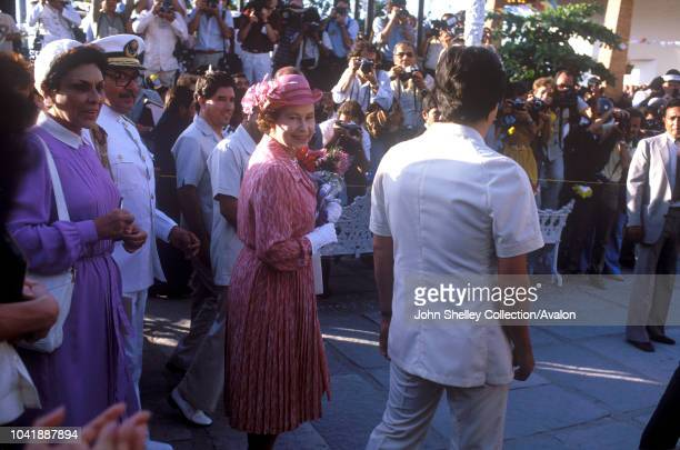 Queen Elizabeth II Mexico 17th February 1983