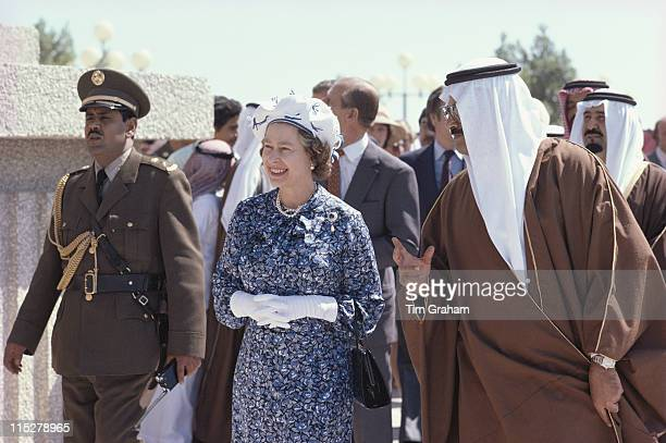 Queen Elizabeth II on a walkabout as part of her tour of the Gulf States in Bahrain 18 February 1979