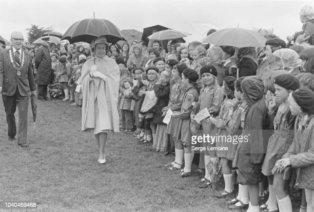 Queen Elizabeth II on a walkabout in Auckland during a Royal Tour of New Zealand FebruaryMarch 1977