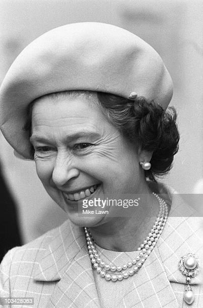 Queen Elizabeth II on a walkabout in November 1984