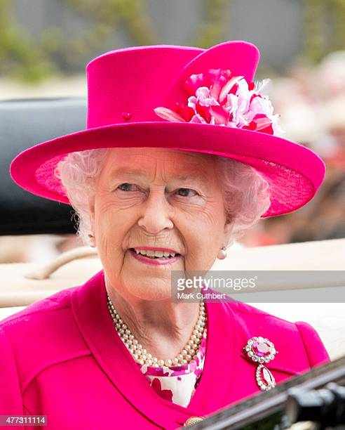 Queen Elizabeth II on day 1 of Royal Ascot at Ascot Racecourse on June 16 2015 in Ascot England