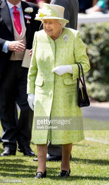 Queen Elizabeth II on day five of Royal Ascot at Ascot Racecourse on June 22 2019 in Ascot England