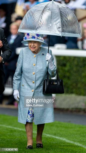 Queen Elizabeth II on day two of Royal Ascot at Ascot Racecourse on June 19, 2019 in Ascot, England.
