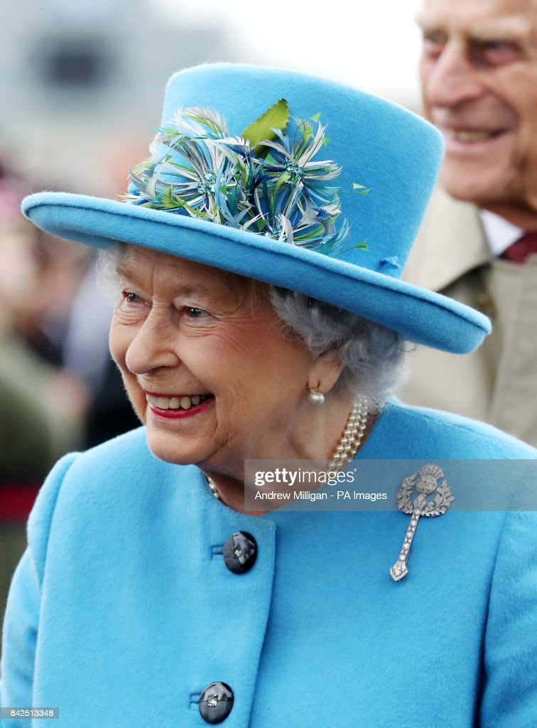 Queen Elizabeth II on the Queensferry Crossing during the official opening of the new bridge across the Firth of Forth.