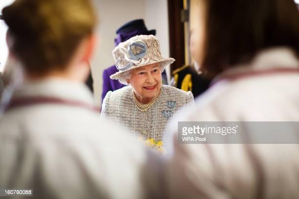Queen Elizabeth II opens the new MRI unit at The Queen Elizabeth Hospital on February 5 2013 in King's Lynn England