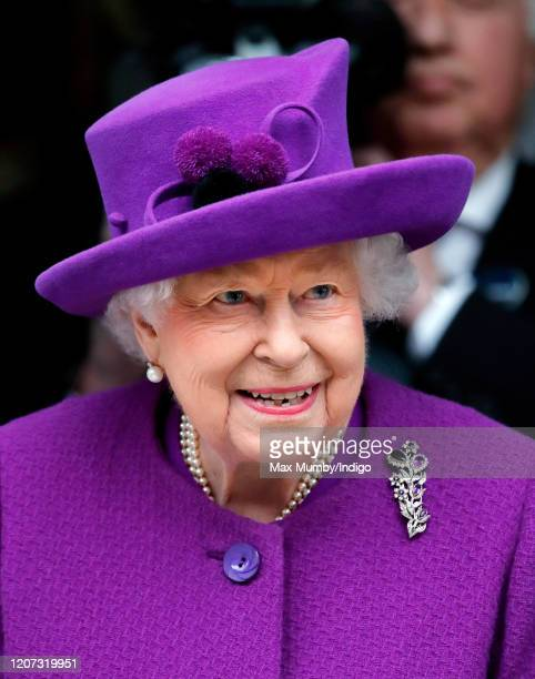 Queen Elizabeth II opens the new premises of the Royal National ENT and Eastman Dental Hospitals on February 19 2020 in London England The new...
