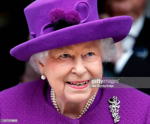 Queen Elizabeth II opens the new premises of the Royal National ENT and Eastman Dental Hospitals on February 19, 2020 in London, England. The new...
