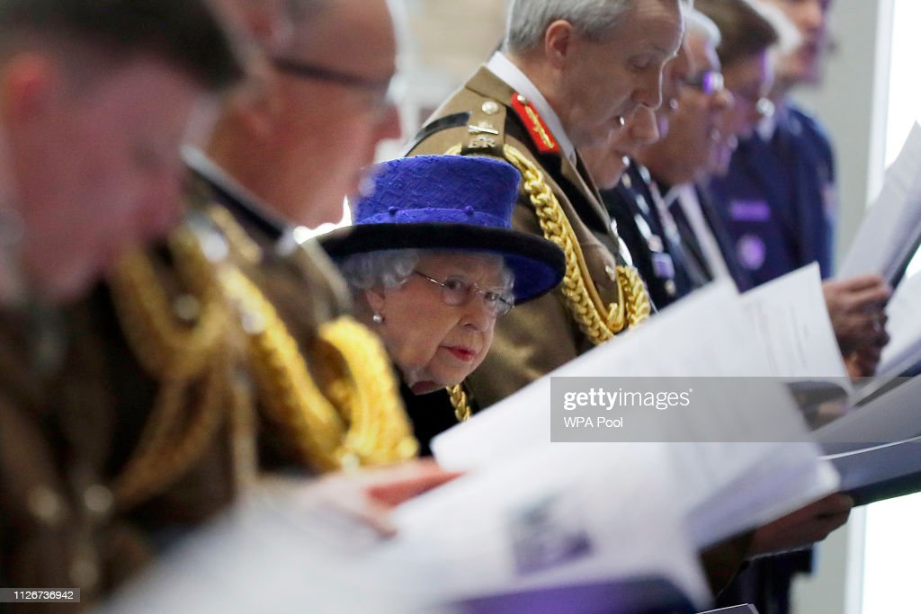 GBR: The Queen Attends Service To Celebrate 100 Years Of The Royal Army Chaplains' Department's 'Royal' Prefix