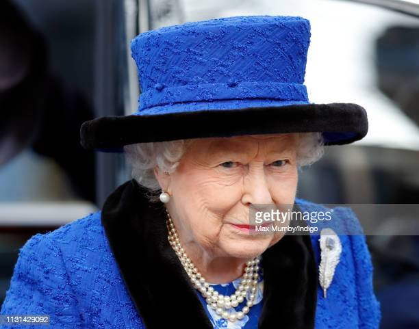 Queen Elizabeth II Patron The Royal Army Chaplains' Department attends a service to celebrate the centenary of the granting by King George V of the...