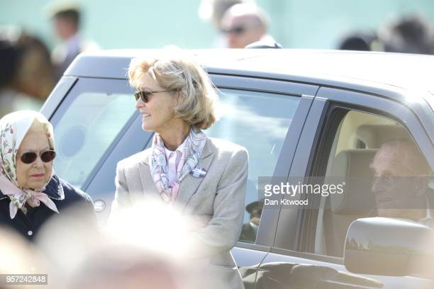 Queen Elizabeth II Penny Countess Mountbatten of Burma and Prince Philip Duke of Endinburgh attend the third day of the Royal Windsor Horse Show on...