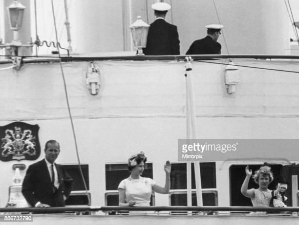Queen Elizabeth II pictured during two day visit to the welsh capital, Cardiff, Wales, Saturday 6th August 1960. Out Picture Shows The Queen, Duke of...