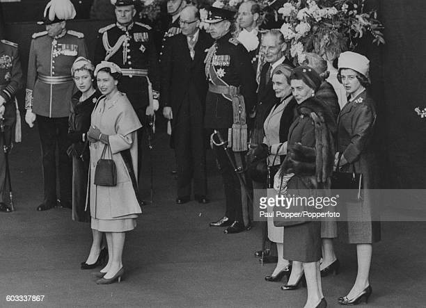 Queen Elizabeth II, pictured second left with Princess Margaret , along with the Princess Alice, Duchess of Gloucester, Princess Marina, Duchess of...