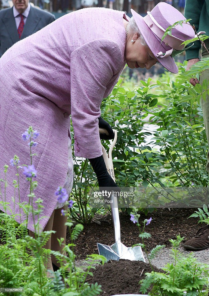 ... Royal Botanic Garden Edinburgh10 Pictures. Embed. EmbedLicense. Queen  Elizabeth II Plants A Tree During Her Visit To Officially Open A Visitor  Centre At