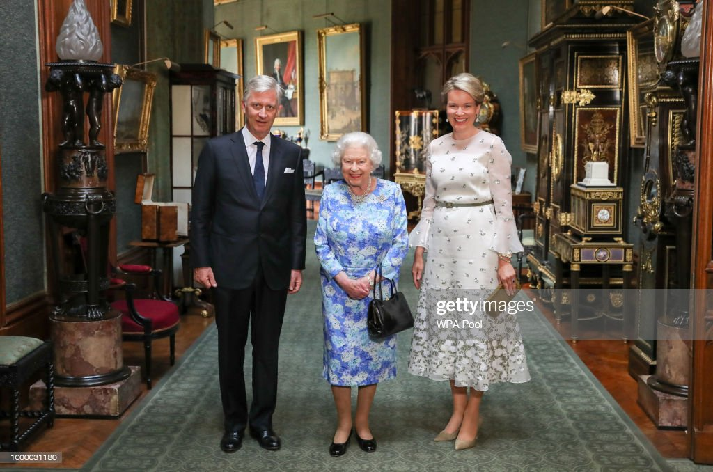 King Philippe of Belgium and Queen Mathilde of Belgium Attend An Audience with the Queen