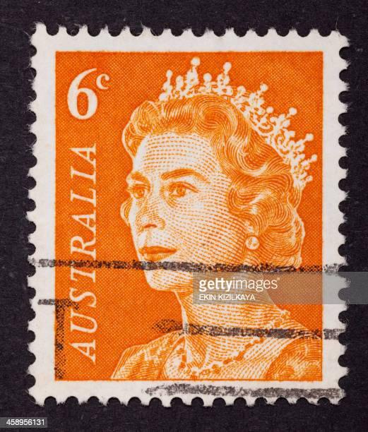 queen elizabeth ii postage stamp - rms queen elizabeth stock photos and pictures