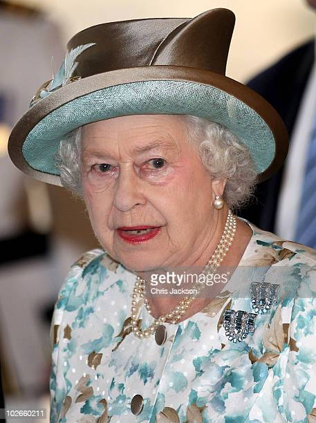 Queen Elizabeth II prepares to address the United Nations at the UN Headquarters on July 6 2010 in New York City Queen Elizabeth II and Prince Philip...