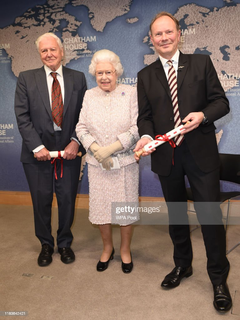 The Queen Presents The Chatham House Prize 2019 : News Photo