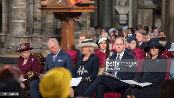 Queen Elizabeth II Prince Charles Prince of Wales Camilla Duchess of Cornwall Prince William Duke of Cambridge and Catherine Duchess of Cambridge...