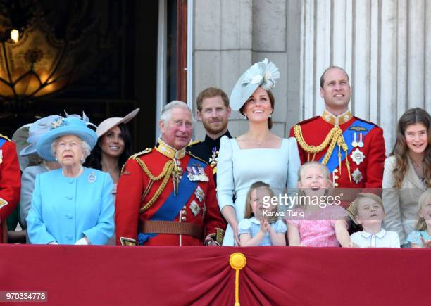 Queen Elizabeth II, Prince Charles, Prince of Wales, Meghan, Duchess of Sussex, Prince Harry, Duke of Sussex, Catherine, Duchess of Cambridge, Prince...