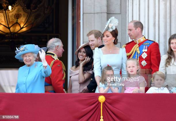 Queen Elizabeth II Prince Charles Prince of Wales Meghan Duchess of Sussex Prince Harry Duke of Sussex Catherine Duchess of Cambridge Prince William...