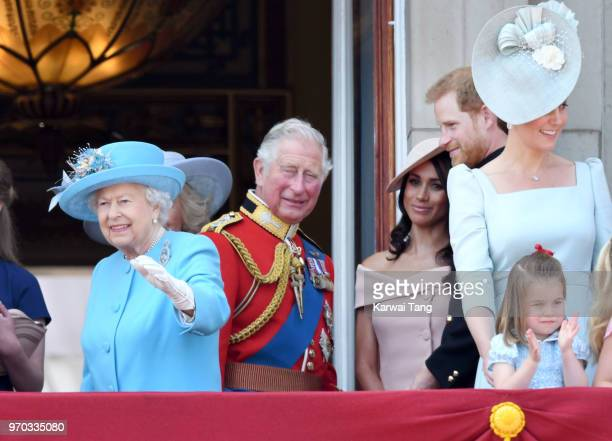 Queen Elizabeth II Prince Charles Prince of Wales Meghan Duchess of Sussex Prince Harry Duke of Sussex Catherine Duchess of Cambridge and Princess...