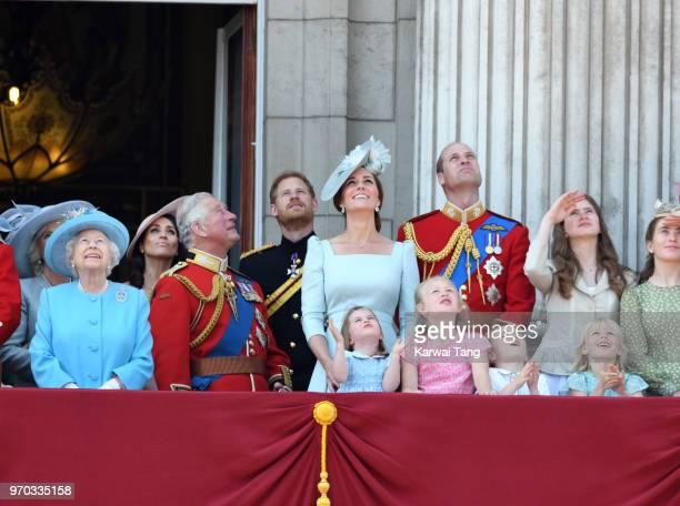 Queen Elizabeth II Prince Charles Prince of Wales Meghan Duchess of Sussex Prince Harry Duke of Sussex Catherine Duchess of Cambridge Prince William...